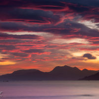 Knoydart from Skye sunrise