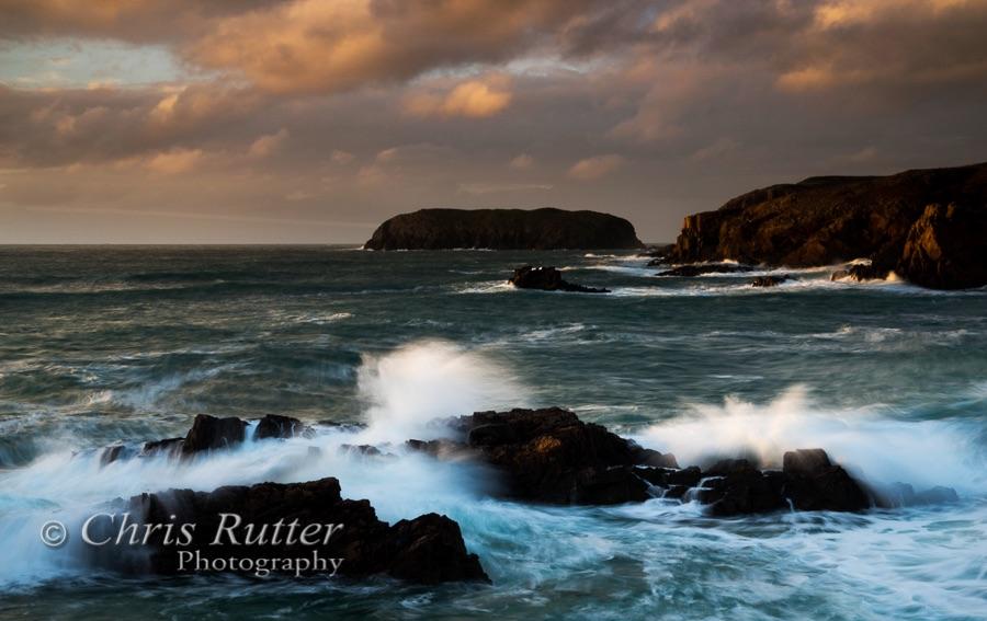 Mangersta waves and sunset