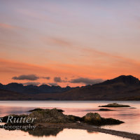 Moon sunrise and Cuillin