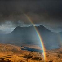 Rainbow from Stac Pollaidh