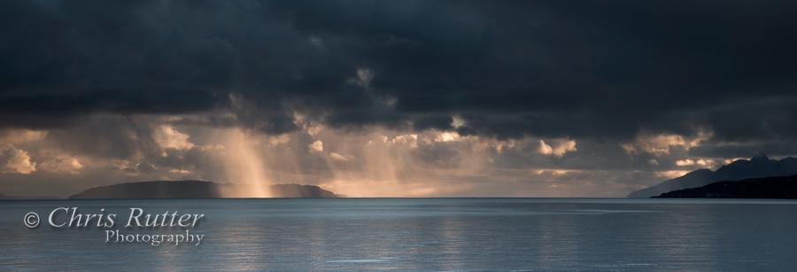 Rainstorm over Eigg