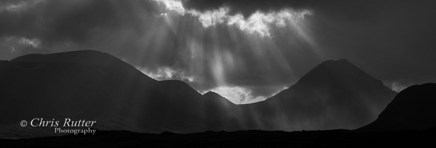 Rays and rain Glen Sligachan