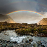 Red Cuillin rainbow