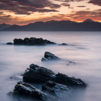 Rocks near Armadale Skye sunrise