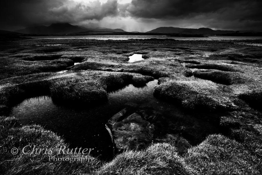 Salt marsh and storm Ob Breakish