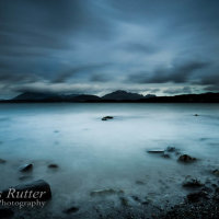 Storm clouds over the Cuillins