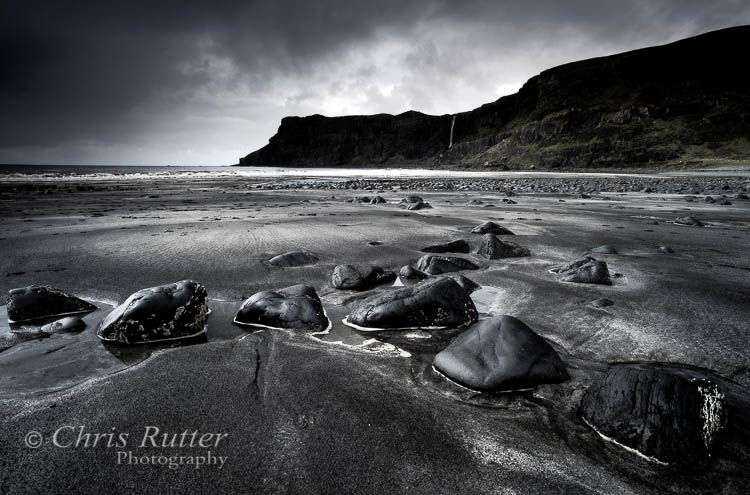 Talisker bay Skye rocks and  sand