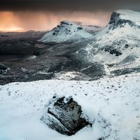 Trotternish snow sunrise