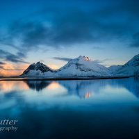 Vestrahorn reflection sunset