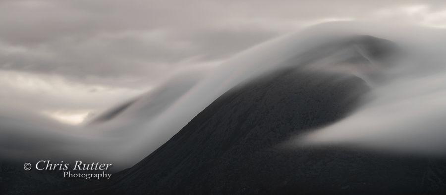 Cloud movement, Beinn na Caillich