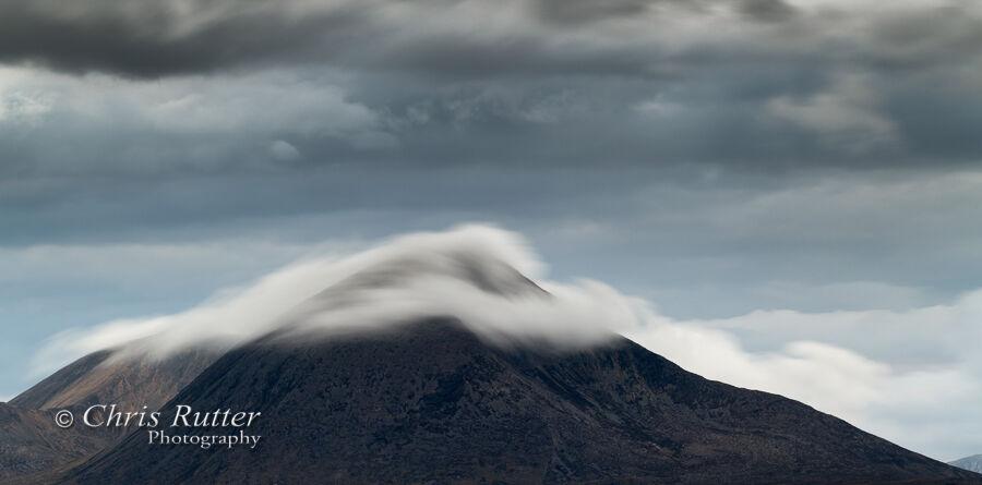 Blue cloud over Beinn na Caillich