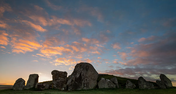 West Kennet long barrow, sunset