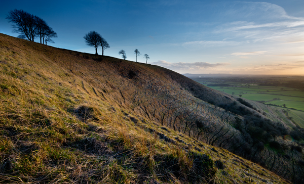 Roundway Hill, Wiltshire, sunset
