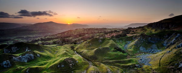 Llangattock Escarpment, South Wales, Dawn