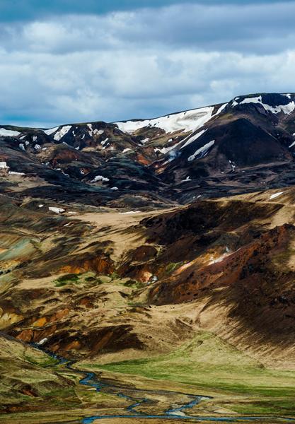Mountains near Hveragerði, Iceland