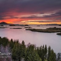 lake myvatn iceland sunset