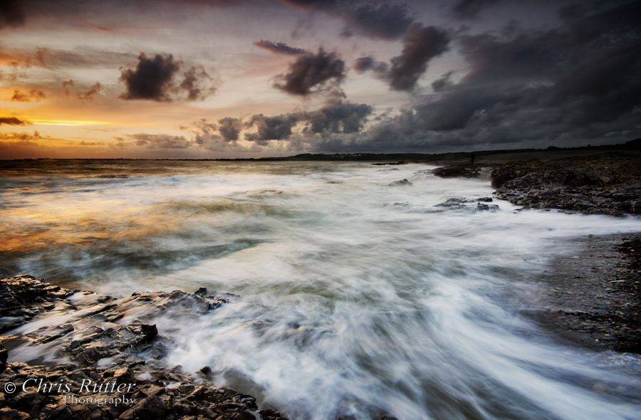 ogmore wales sunset