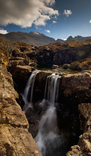 Waterfall, Cuillin Hills, Isle of Skye