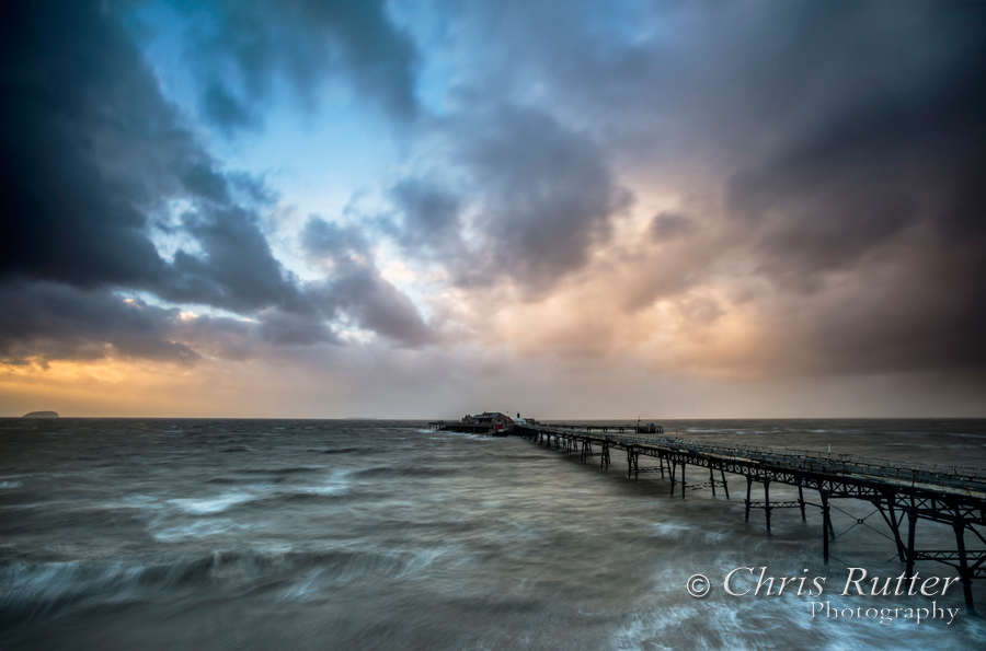 weston pier storm