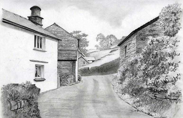 'In Troutbeck Village'