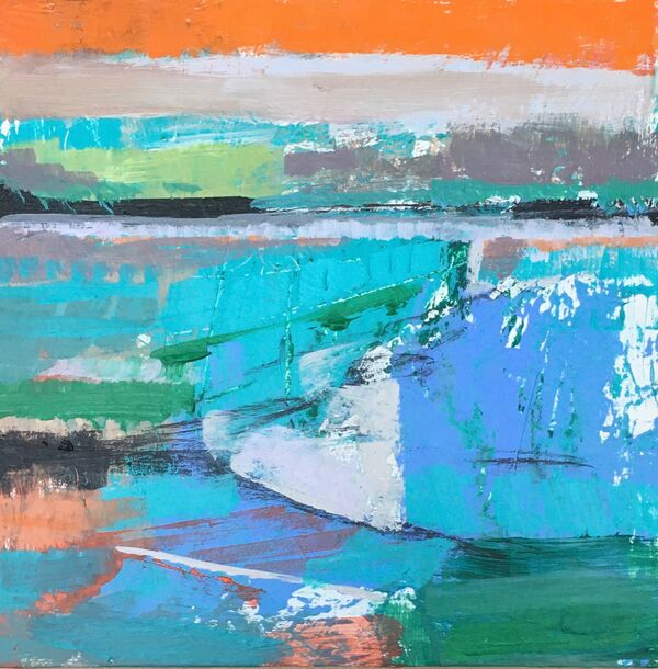 Land Jigsaw 2. Acrylic on panel. 6x6inches