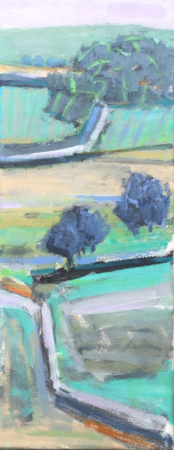 View to the Top.  50x20cms. 20x8inches