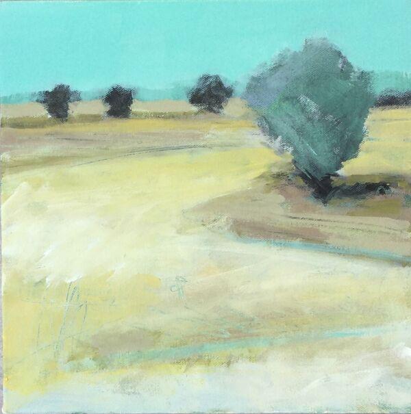 The Marker Tree. Acrylic 30x30cms £175 unframed canvas
