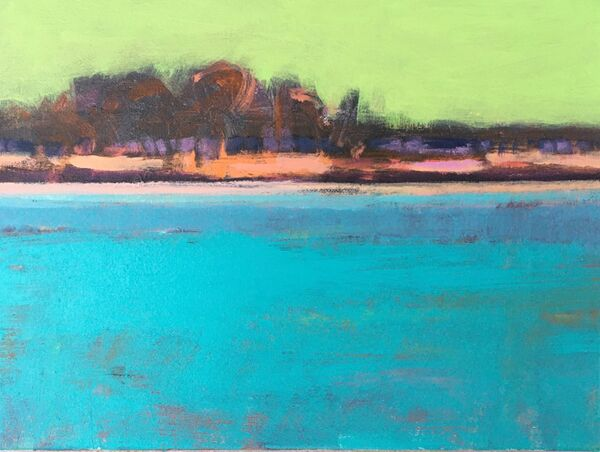 Tutti Frutti Tropical. Acrylic painting on small 10x8inches canvas. £90 +pp