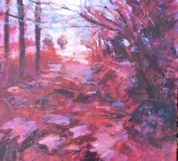 Shade to Light.    Acrylic on canvas 55x50cms