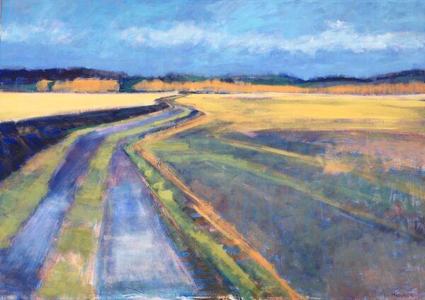 Field Curves.  100x70cms canvas