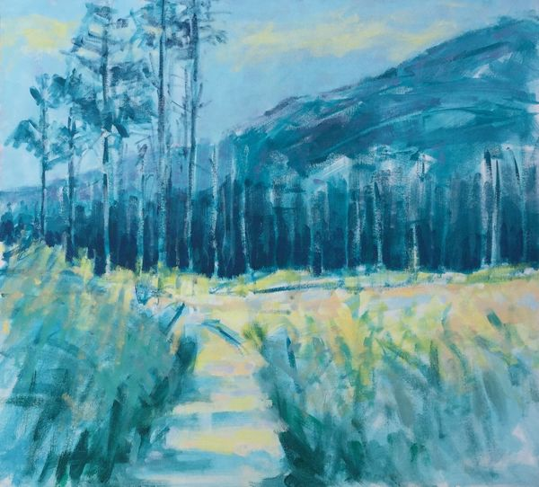 Path to the Pine Forest acrylic on canvas 55x50cms