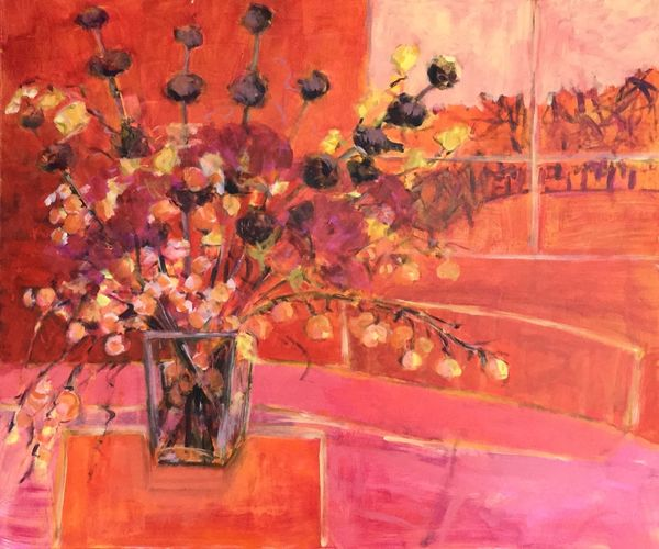 Red Autumn 60x50cms acrylic on canvas