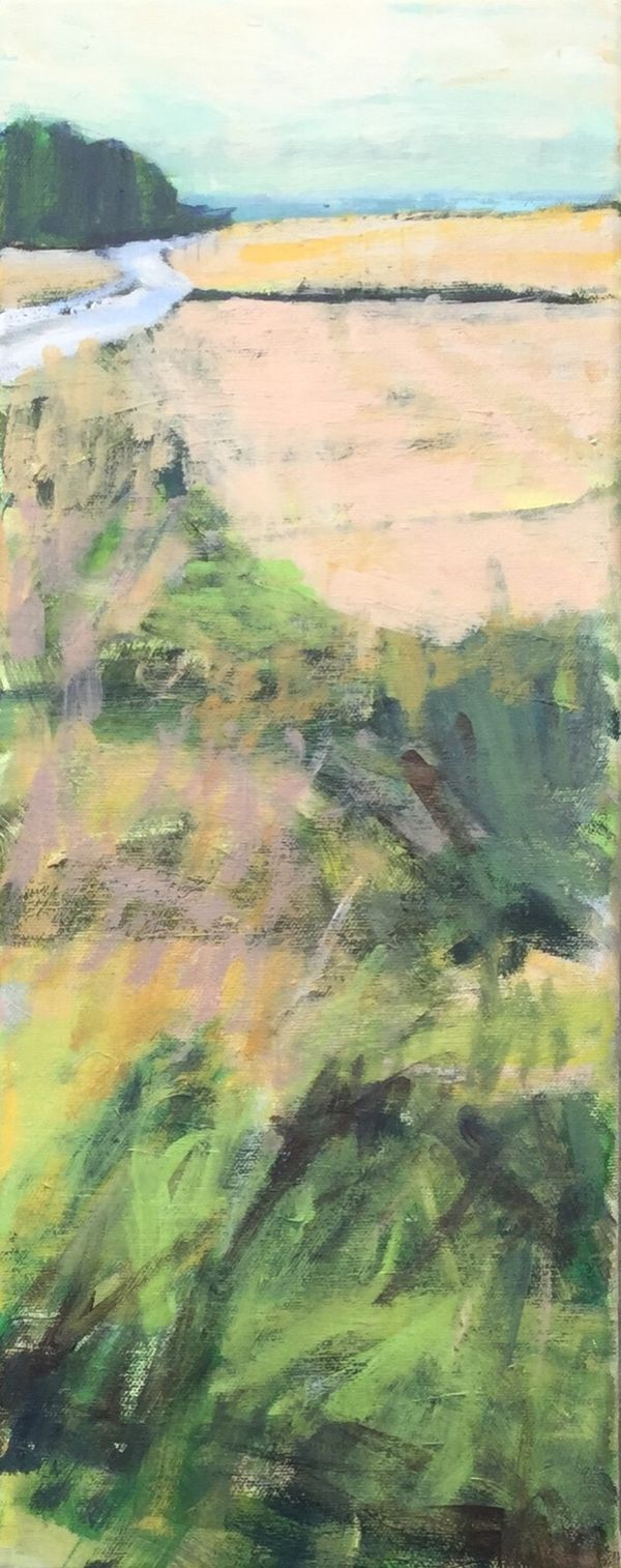 The Yellow Field. 50x20cms/20x8ins