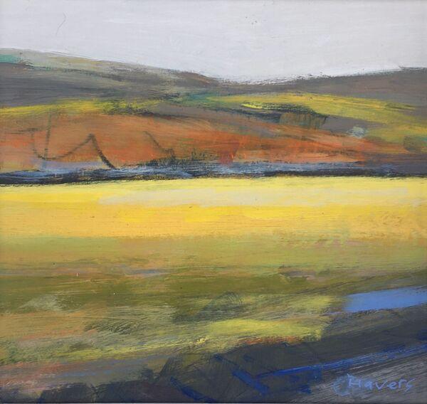 Yellow Field 15x15cms