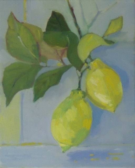Chrissie Havers  'Weight of Lemons'  oil on canvas    (513x640)