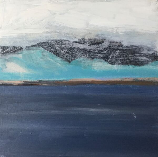 North - Weather.  Acrylic 15x15cms on wooden panel