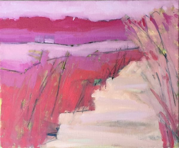 Riverbank with Rosebay Willowherb. [Glen Clova series]