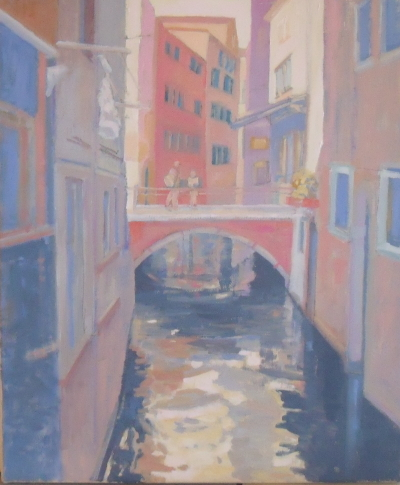 VENICE SERIES. : ''Narrow Canal''                    CLICK on thumbnail for larger image