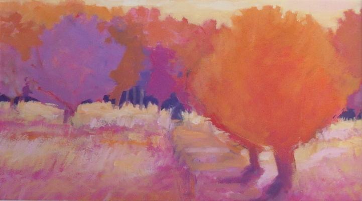 'Wild Garden'. 77x50cms framed