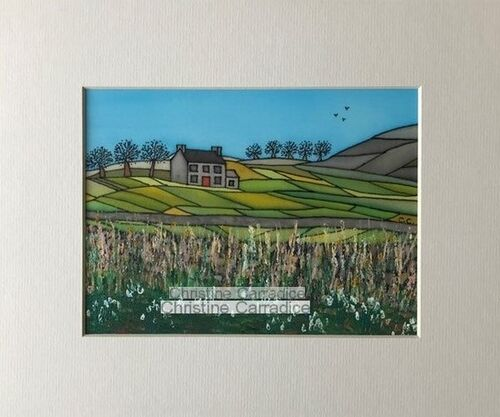 """Spring is on the way. Mounted and unframed. Picture size is 6"""" x 8"""" and the outside edge of the mount (antique white) measures 10"""" by 12"""" which is a standard size. £55.00."""