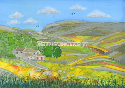 "*NOW SOLD* Ingleborough from Crina Bottom, near Ingleton. Picture size 15"" x 11.5"" (approx)."