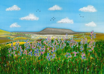 "Pendle Hill. Picture size 13"" x 9"" (approx)."