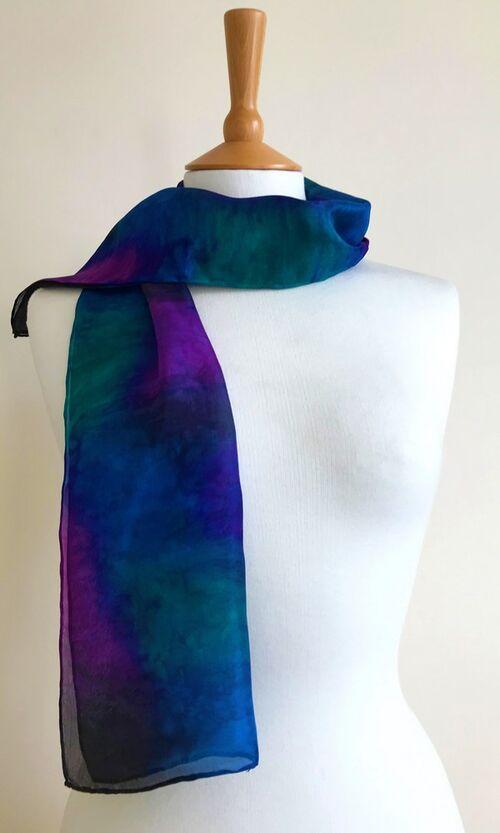 Ocean - Royal blue, purple, dark green, black
