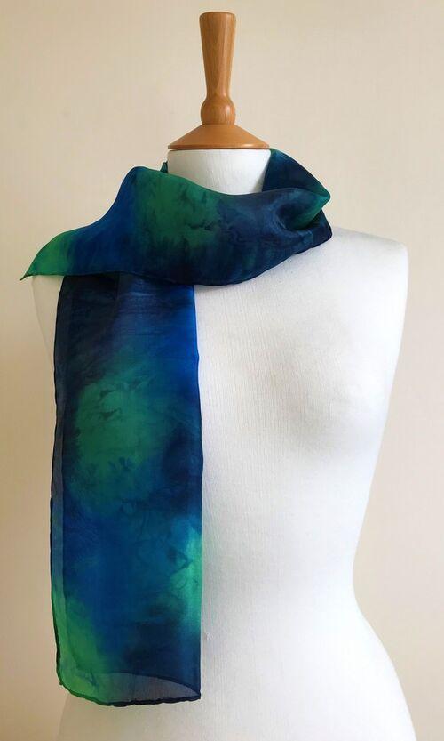 River - Royal blue, leaf green, navy, grey