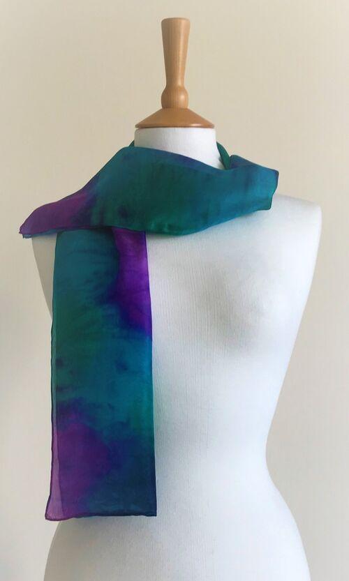 Dusk - Purple, turquoise, dark green, navy