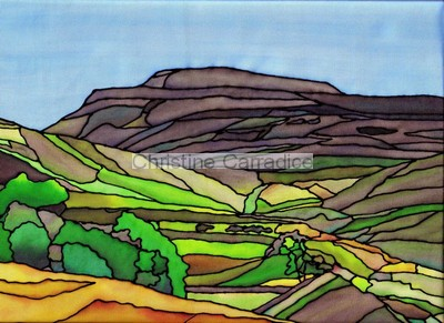 "*NOW SOLD* Ingleborough from Crina Bottom, near Ingleton. Picture size 11.5"" x 9""(approx)."