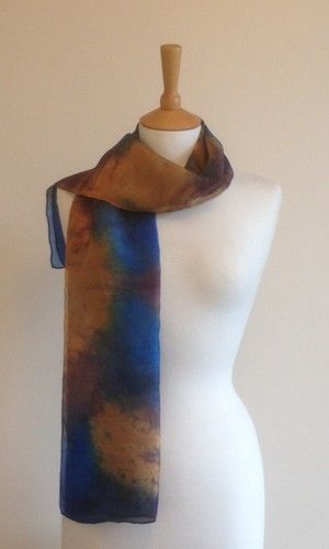 Fellside - Limoges blue, orange, navy and brown