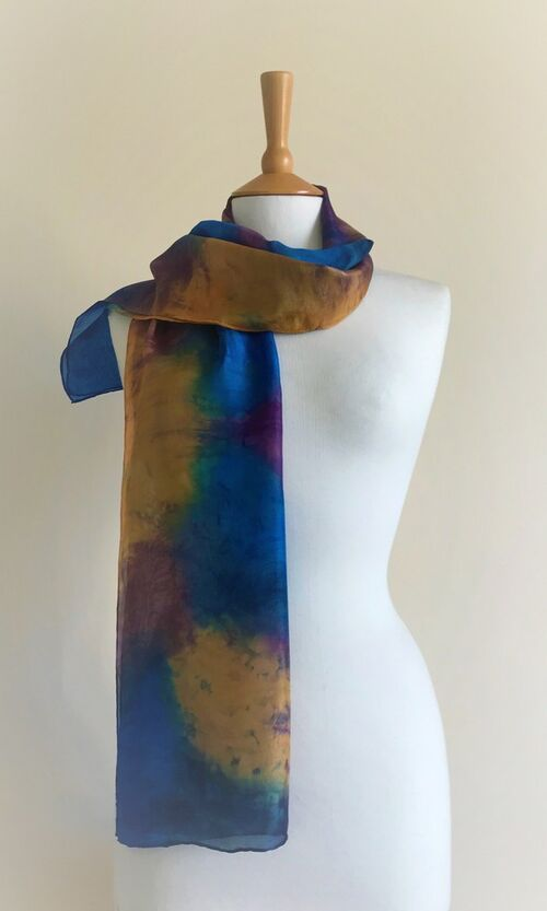 Fellside - Limoges blue, orange, navy, brown