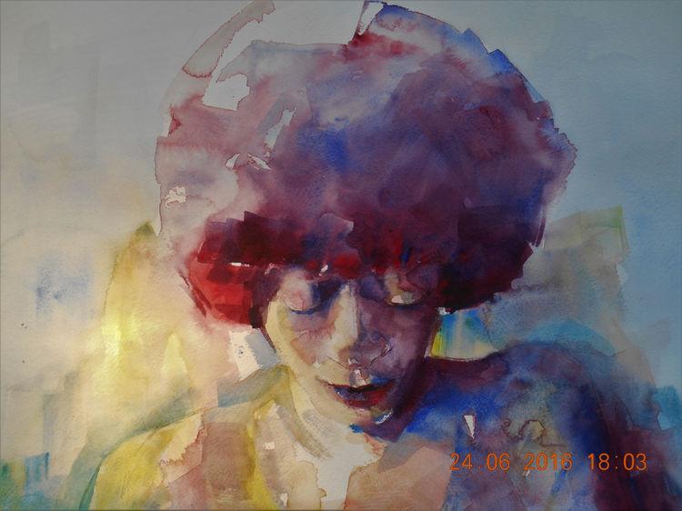 Afro Woman 47x47cm