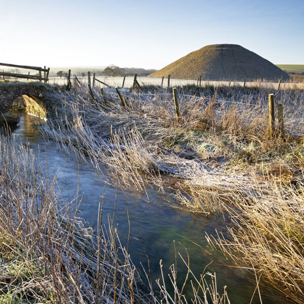 The River Kennet and Silbury Hill, Wiltshire